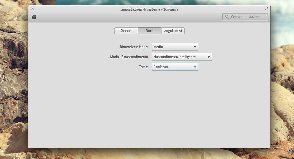 elementay OS - Preferenze Plank