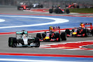 Lewis Hamilton (Mercedes) leads Daniil Kvyat and Daniel Ricciardo (Red Bull)