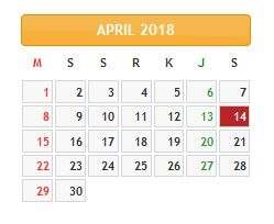libur 14 april 2018