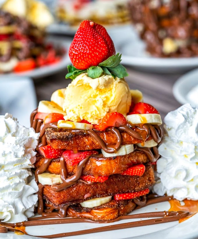 Nutella Strawberry Banana French Toast Recipe | Breakfast Care