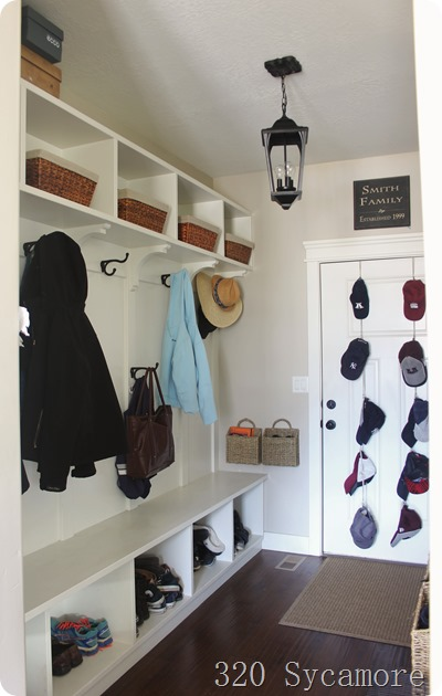 a functional mudroom