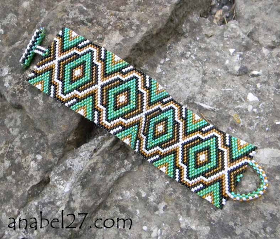 peyote cuff beadwork bracelet beading jewelry handmade