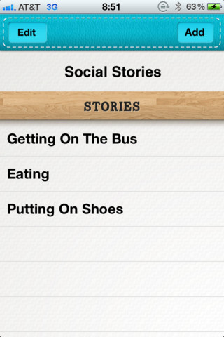 Social Stories Main Page
