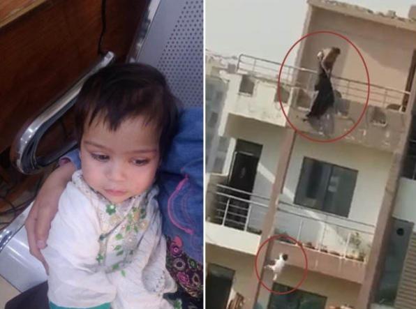 خاتون نے اپنی بچی کو 6 منزل سے نیچے پھینک دیا