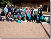 I migliori arrivati a SEBORGA con gli organizzatori G.S. BARALE