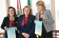 O Rotary Club da Régua e o Rotary Club de Lamego receberam a visita da Governadora Rotária Teresinha Fraga