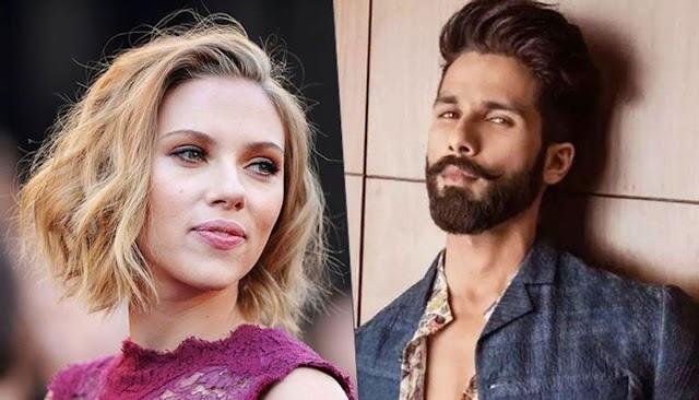 Naughty Shahid Kapoor wants to see Scarlett Johansson taking a shower