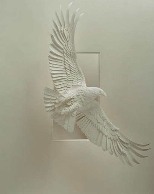 Wildlife Paper Sculpture by Calvin Nicholls 1