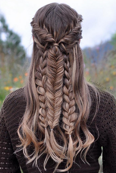 long hair -A collection of ideas for braided hair In 2017 13