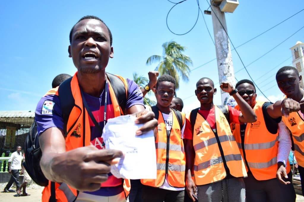Census enumerators boycott and went to the streets in Mtwapa, Kilifi.