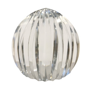 Tiffany & Co. RARE Ribbed Crystal Paperweight
