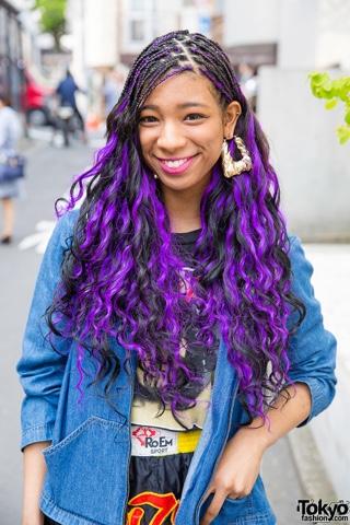 Graceful Lifestyle Purple Braids Twist And Cornrow Hairstyles