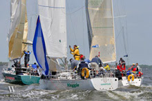 J/35s sailing Annapolis NOOD regatta