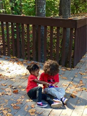 Childhood development milestones stay at home mom black brown girl friends children smyrna georgia park toddler