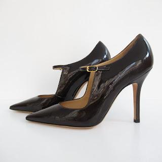 Manolo Blahnik Dark Brown Stilettos