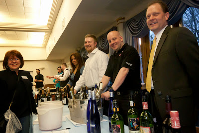 Stu Leondard's wine with Linda P. from the chamber and North Jersey Media.