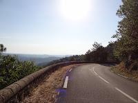 Vue dégagée sur les monts de la basse Ardèche