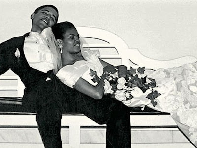 The Obamas' in 1992