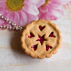 Cherry Pie with Star and Heart Cutouts