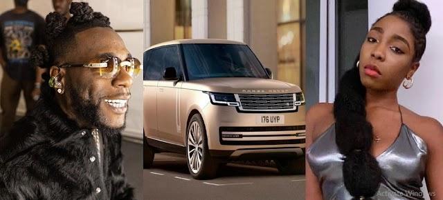 Burna Boy Celebrates His Sister Nissi For Designing The New Range Rover