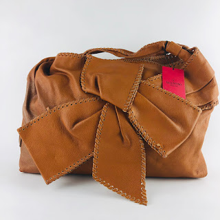 Valentino Whip-Stitch Bow Bag