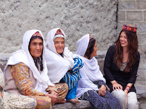 Sitting with elder locals in Hunza Valley.