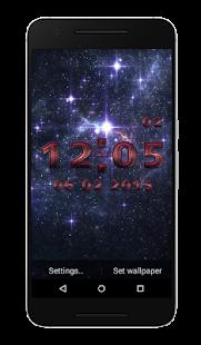 Wars Clock Live Wallpaper - náhled
