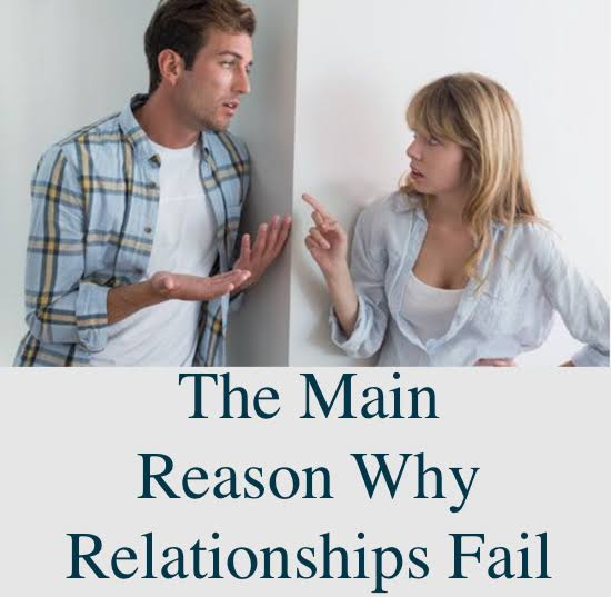 SEE THE SEVEN MAIN REASONS WHY YOUR RELATIONSHIP FAILS