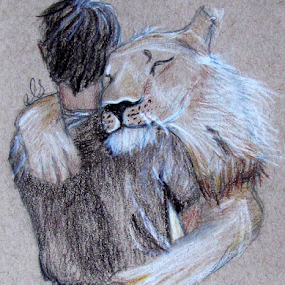 by IS Photography - Drawing All Drawing ( love, lion, hug', boy, man, animal )