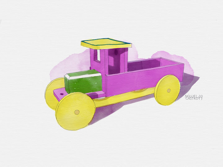 Wood car 2 made with Sketches