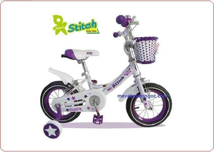 Xe đạp trẻ em Stitch 12 in (màu hồng)