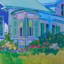 "Photo: Sutter Creek Inn, acrylic painting 12"" x 12""by Nancy Roberts, copyright 2015. $300 framed."