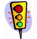 สัญญาณไฟจราจรกะพริบสีเหลืองอำพัน