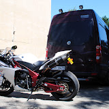Yamaha R1 motocikla transportēšana