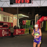 II Maratón nocturna de Bilbao, carrera media maratón