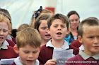 REPRO FREEProvision 230912Schoolchildren from the Rath National School Choir sing 'Home from the Sea' at the RNLB Alan Massey  naming ceremony in BaltimorePic Michael Mac Sweeney/Provision