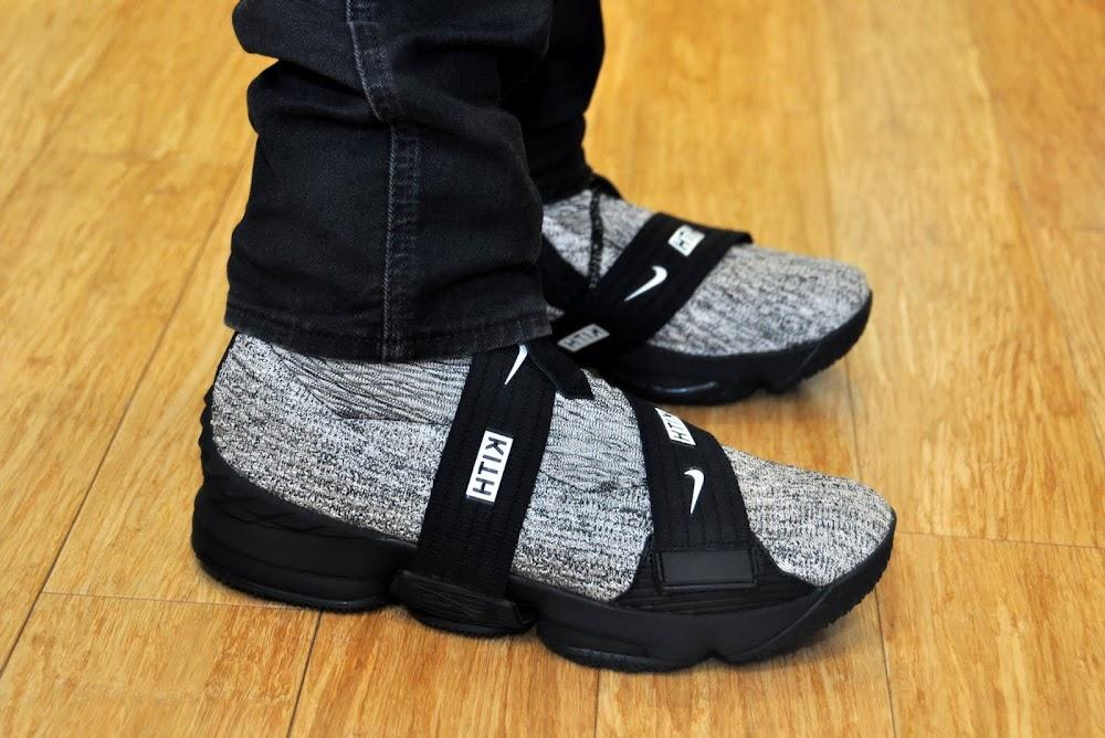 7d1ebf724a32 ... Nike LeBron 15 Kith Concrete OnFeet Look ...