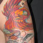 phoenix skull am - tattoos for men