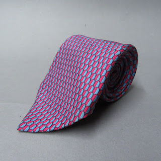 Hermès Red and Blue Tie
