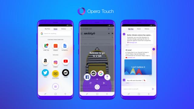 Koneknesia Blog - Opera Touch: Browser Terbaru dari Opera untuk kenyamanan Menjelajahi Web