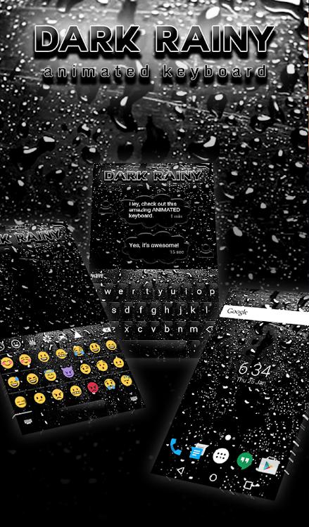 Dark Rainy Animated Keyboard Live Wallpaper Android Aplikasi Appagg