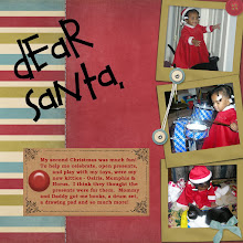 Photo: Quick page by Angela Young from her Beary Christmas set.