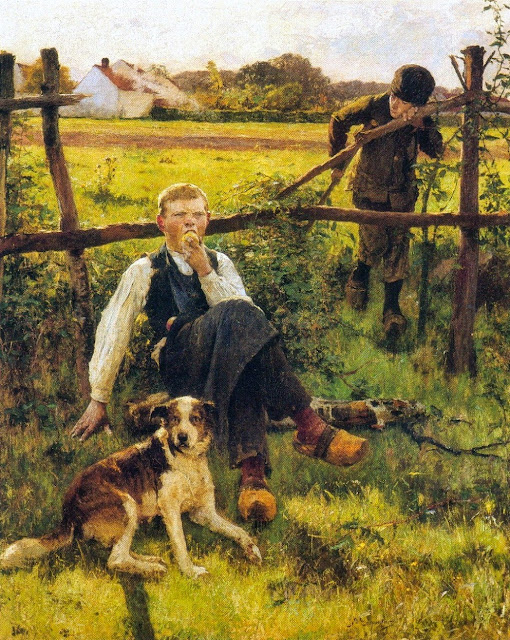Evariste Carpentier - The miser (apple thief)