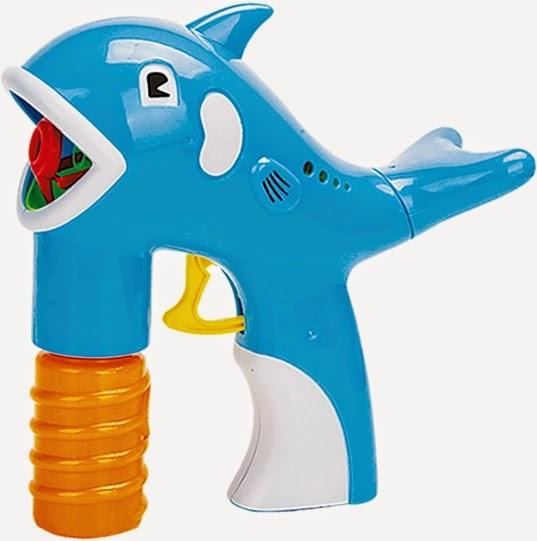 Súng tạo bong bóng hình chú Cá heo màu xanh ngộ nghĩnh