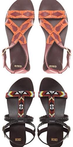 Sandalias de estilo tribal de Asos