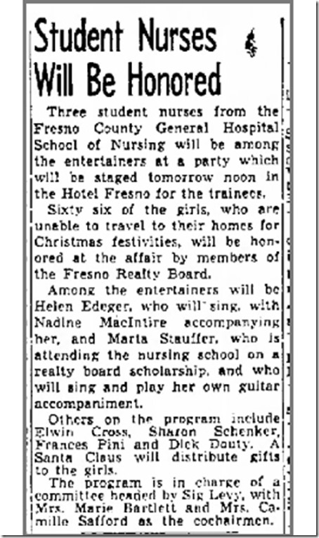 Student Nurses Honored Fresno Bee 12_22_1948