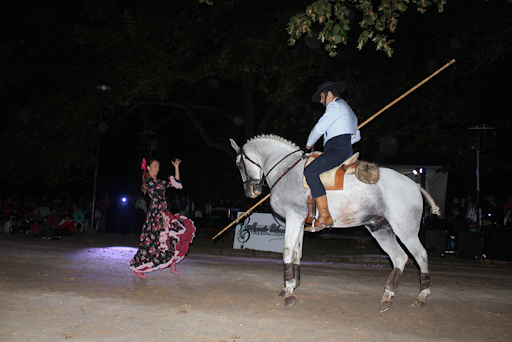 A dançarina Sofia Bartolo com o cavaleiro Miguel Fonseca