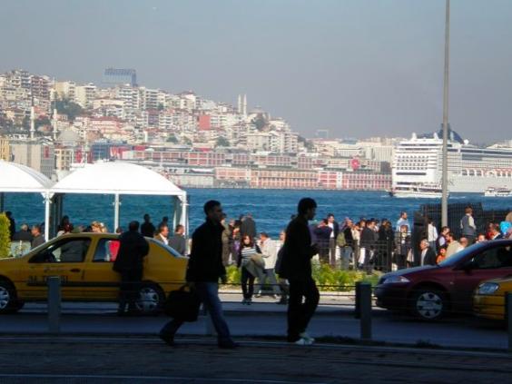 Eminonu, Bosphorus, Cruise Ships in Istanbul