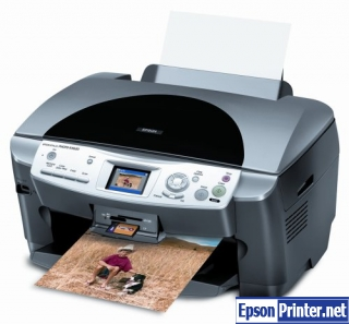 How to reset Epson RX620 printer