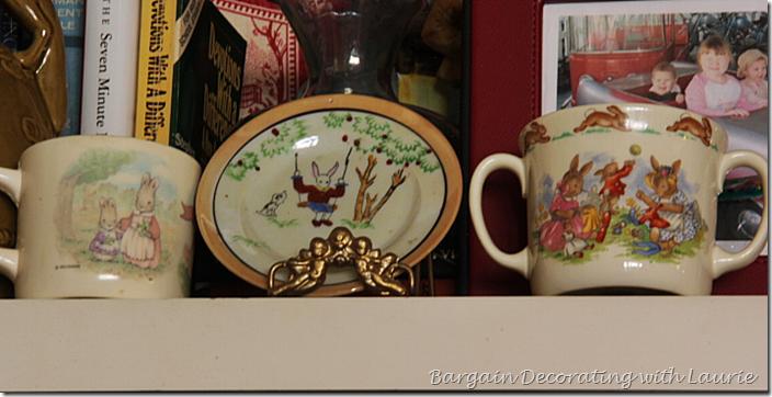 Vintage Bunny Theme Children's Dishes